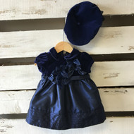Children's Pace Satin & Velvet Holiday Dress and Hat