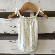 baby Gap Ivory and Grey Star Romper