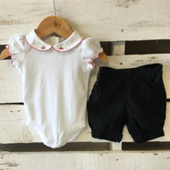 Janie & Jack Cherry Onesie and Shorts Set