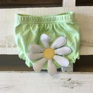 Baby Aspen Daisy Green Diaper Cover