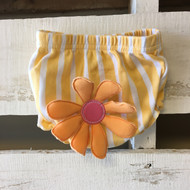 Baby Aspen Mango and White Striped Diaper Cover