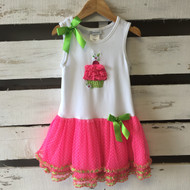 Bonnie Jean Pink & White Cupcake Dress