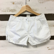 Janie & Jack White Ruffle Trim Shorts