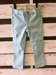 Persnickety Polka  Dot Pants with Cargo Pockets