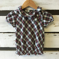 Janie & Jack Plaid Blouse with Bow