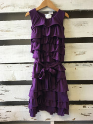 Crewcuts Purple Ruffle Dress