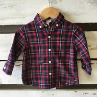 Janie & Jack Plaid Button Up Shirt