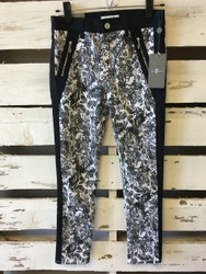 NWT!  7 For All Mankind Black & White Floral Jeggings