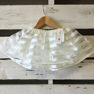 NEW! Mae Li Rose Stripes & Bows White Skirt