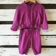 Little Marc Jacobs Ruffle Trim Sweat Suit