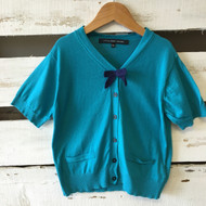 Little Marc Jacobs Teal Bow Sweater