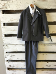 NEW! Tip Top Kids Six Piece Grey Suit