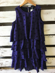 NEW! Little Marc Jacobs Purple & Black Tiered Dress