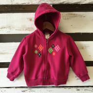 Gymboree Pink Striped Zip Up Hoodie