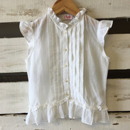 il gufo Summer White  Ruffle Blouse