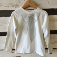 il gufo Jeweled Bow Long Sleeve Shirt