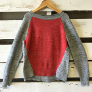 Gap Kids Red & Grey Block Sweater