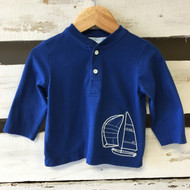 Janie & Jack Henley Sailboat Shirt