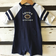 Janie & Jack Navy Blue Football Romper