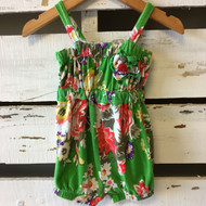 Baby Nay Green Floral Romper