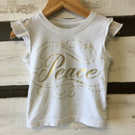 Peek 'Peace' Ruffle Top
