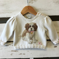 Polo by Ralph Lauren Girls 'Dog' Sweater