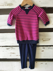 Splendid Pink & Navy Stripe Set