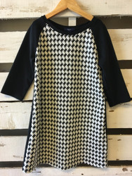 Gap Kids Hounds Tooth Shift Dress
