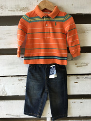 New!  Ralph Lauren Polo Shirt &  Jeans Set