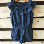 Baby Gap Denim Ruffle Jumper