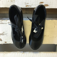 New! Capezio Junior Tyette Black Tap Shoes 3.5M