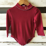 Janie & Jack Red Crosstitched Bodysuit