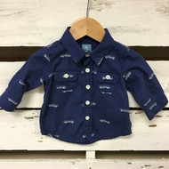 Baby Gap Race Car Button Up Shirt