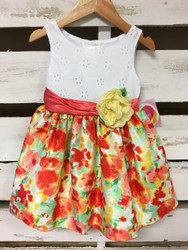New! Youngland Floral Shine Dress
