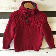 Baby Gap Red Cable Knit Sweater Pullover