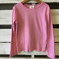 Hanna Andersson Pink & White Stripe Top.