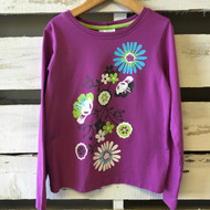 Hanna Andersson Purple Flower Tee
