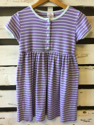 Hanna Andersson Purple & White Stripe Dress