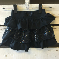 Angelina Ballerina Black Sequin Ruffle Skirt
