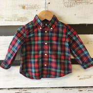 Ralph Lauren Red & Green Plaid Button Up Shirt