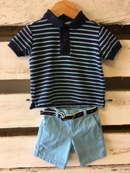 Janie & Jack Striped Polo Shirt and Shorts Set