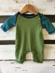 Baby Gap Neon & Navy Striped Shortall