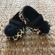 Stuart Weitzman Satin Cheetah Slippers