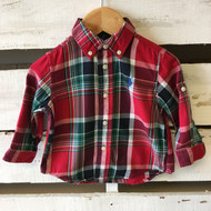 Ralph Lauren Red & Green Soft Plaid Shirt