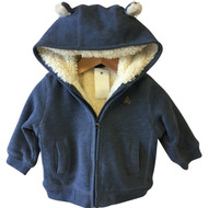 Baby Gap Zip Up Fuzzy Lined Sweatshirt