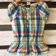 Chaps Ralph Lauren Plaid Tunic Blouse