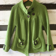 Savannah Green Knit Cardigan