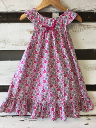 Lemon Seed Kids Pink Floral Dress