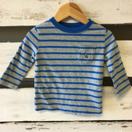 Baby Gap Blue & Grey Striped Long Sleeve Shirt