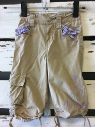 Disney Store Princess Tan Drawstring Capris